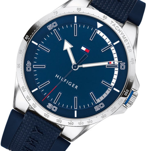 Tommy Hilfiger Blue Silicone Men's Watch - 1791542