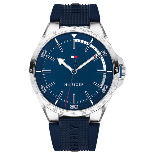 Tommy Hilfiger Riverside Blue Silicone Men's Watch - 1791542
