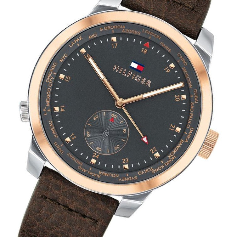Tommy Hilfiger Men's Leather Sports Watch - 1791554