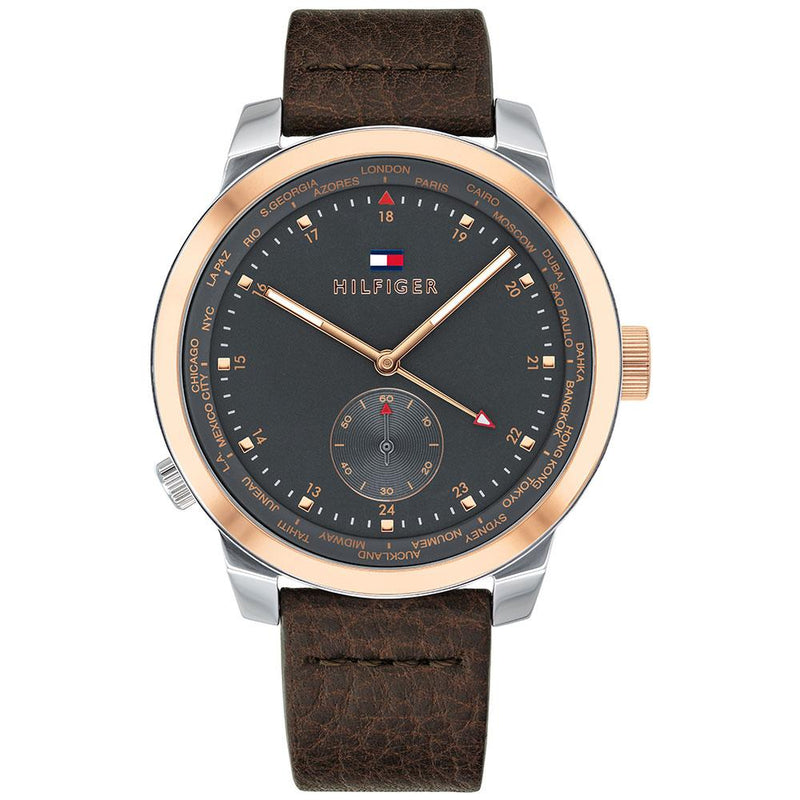 Tommy Hilfiger Sports Leather Men's Watch - 1791554