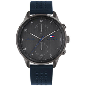 Tommy Hilfiger Blue Leather Men's Watch - 1791578
