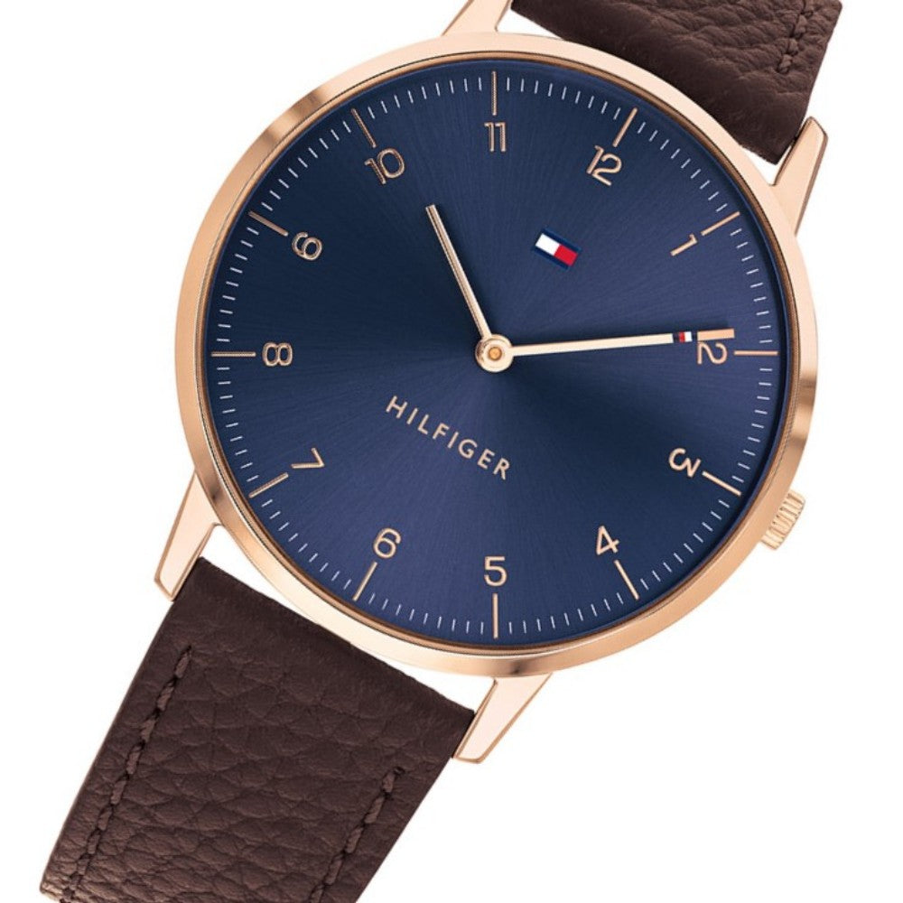 Tommy Hilfiger Classic Brown Leather Men's Watch - 1791582