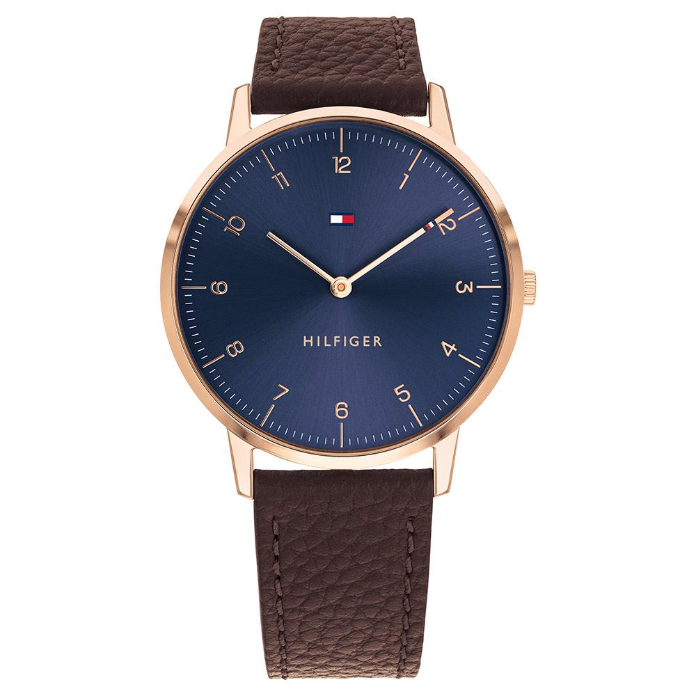 Tommy Hilfiger Cooper Brown Leather Men's Watch - 1791582