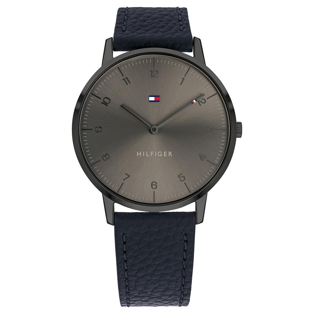 Tommy Hilfiger Cooper Navy Leather Men's Watch - 1791583