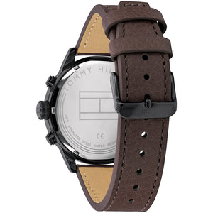 Tommy Hilfiger Men's Dual Time Brown Leather Men's Watch - 1791593