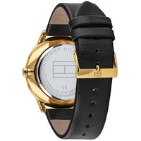 Tommy Hilfiger Multi-function Black Leather Men's Watch - 1791606