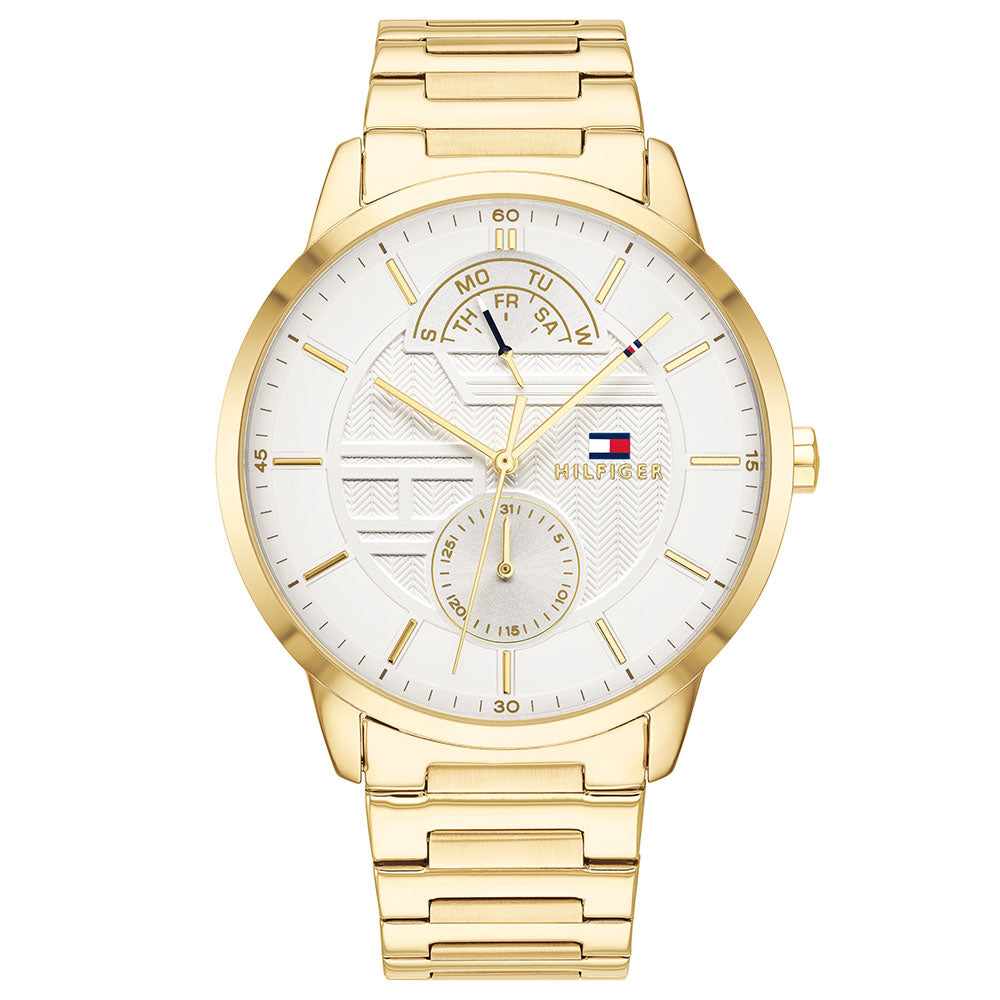 Tommy Hilfiger Multi-function Gold Steel Men's Watch - 1791609
