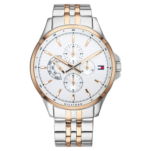 Tommy Hilfiger Shawn Two Tone Stainless Steel Men's Multi-function Watch - 1791617