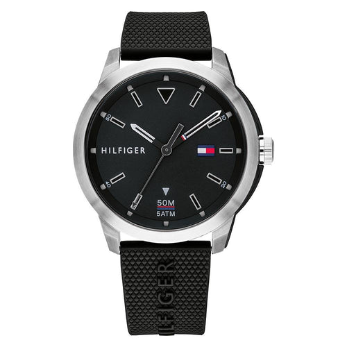 Tommy Hilfiger Sneaker Black Silicone Men's Watch - 1791622