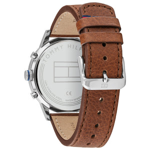 Tommy Hilfiger Multi-function Light Brown Leather Men's Watch - 1791629