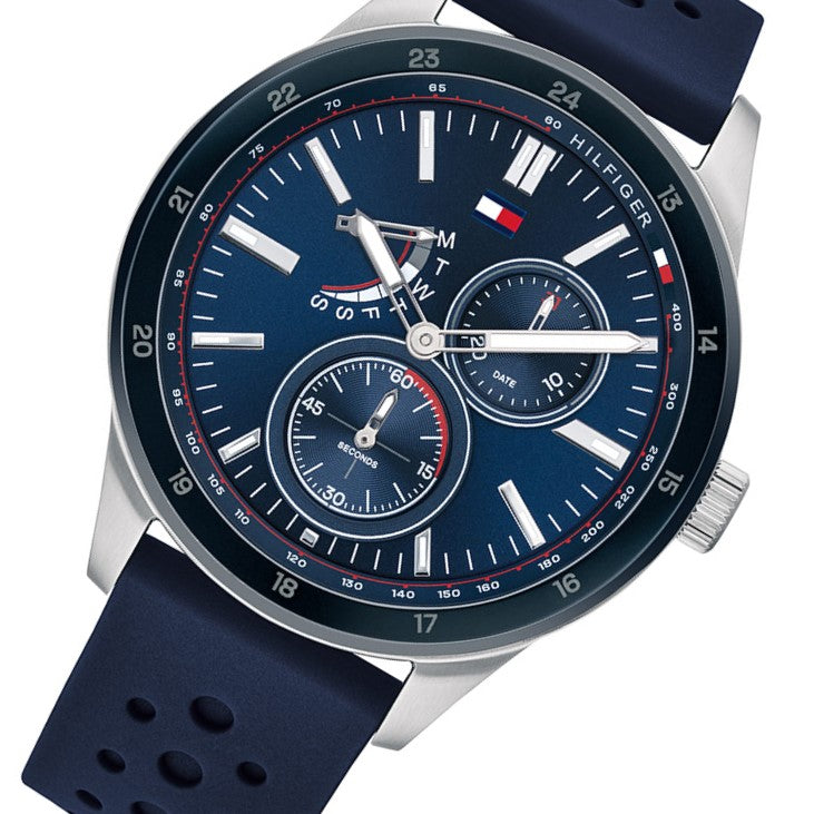 Tommy Hilfiger Multi-function Blue Silicone Men's Watch - 1791635