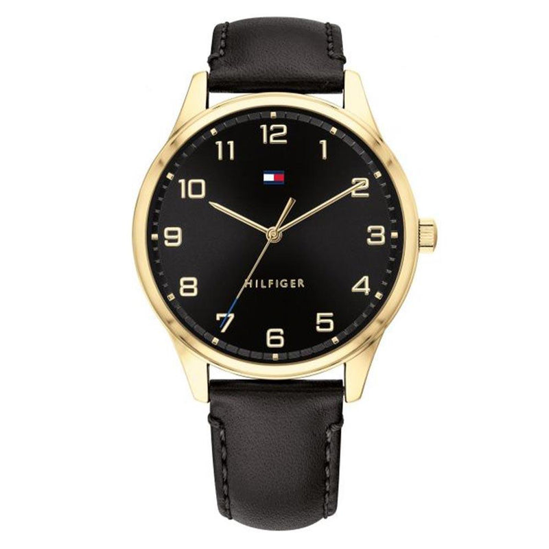 Tommy Hilfiger Essentials Black Leather Men's Watch - 1791660