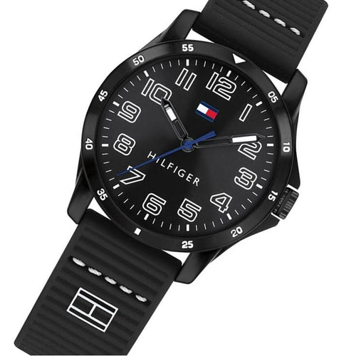 Tommy Hilfiger Kids Black Silicone Watch - 1791666