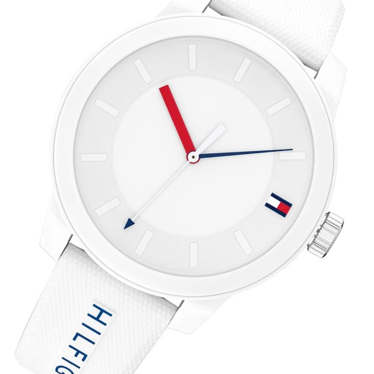 Tommy Hilfiger Denim White Silicone Men's Watch - 1791743