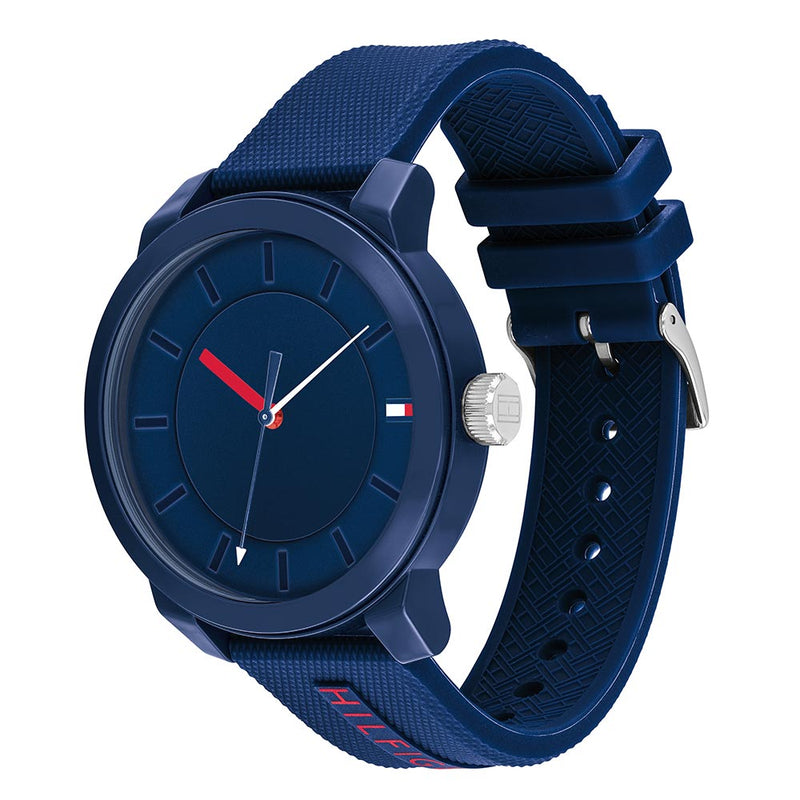 Tommy Hilfiger Denim Blue Silicone Men's Watch - 1791745