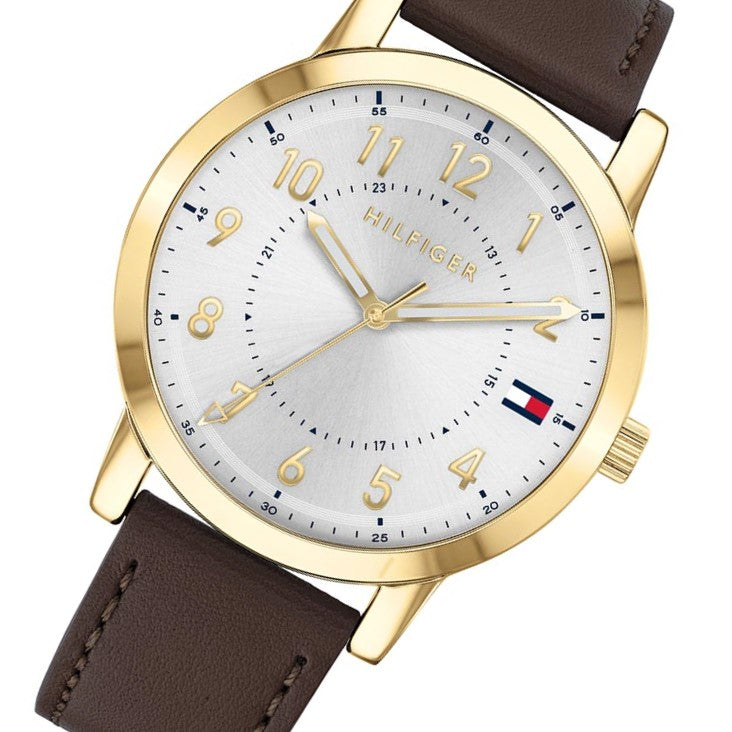 Tommy Hilfiger Essentials Dark Brown Leather Men's Watch - 1791751