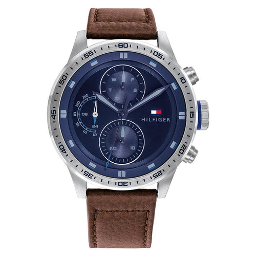 Tommy Hilfiger Brown Leather Men's Multi-function Watch - 1791807
