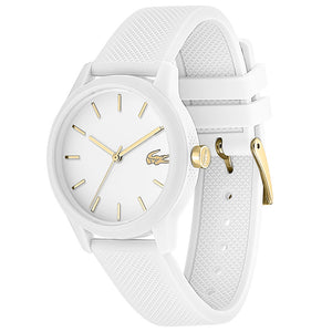 Lacoste The 12.12 White Silicone Ladies Watch - 2001063