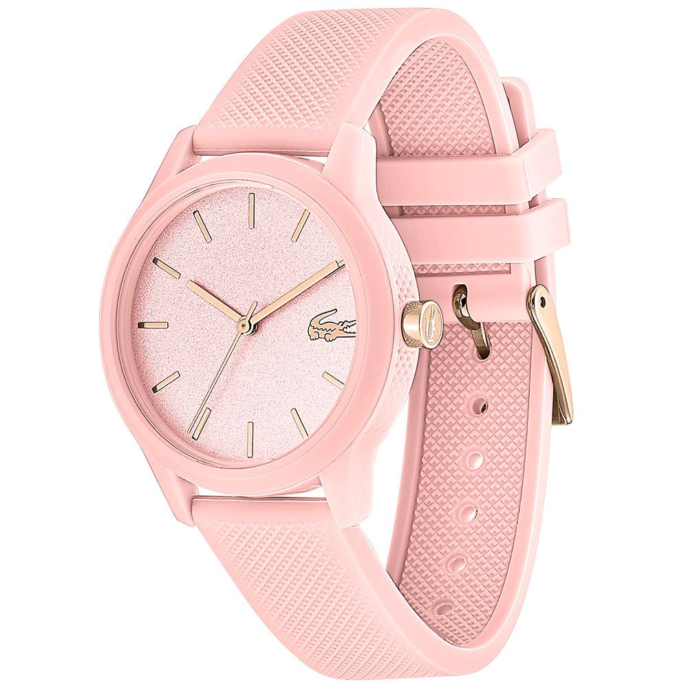 Lacoste The 12.12 Pink Silicone Ladies Watch - 2001065