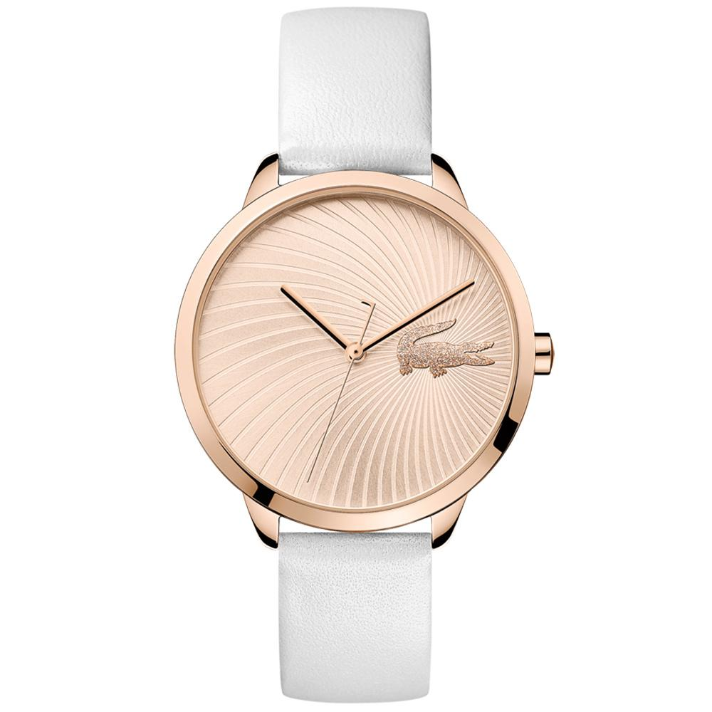 Lacoste Lexi White Leather Ladies Watch - 2001068