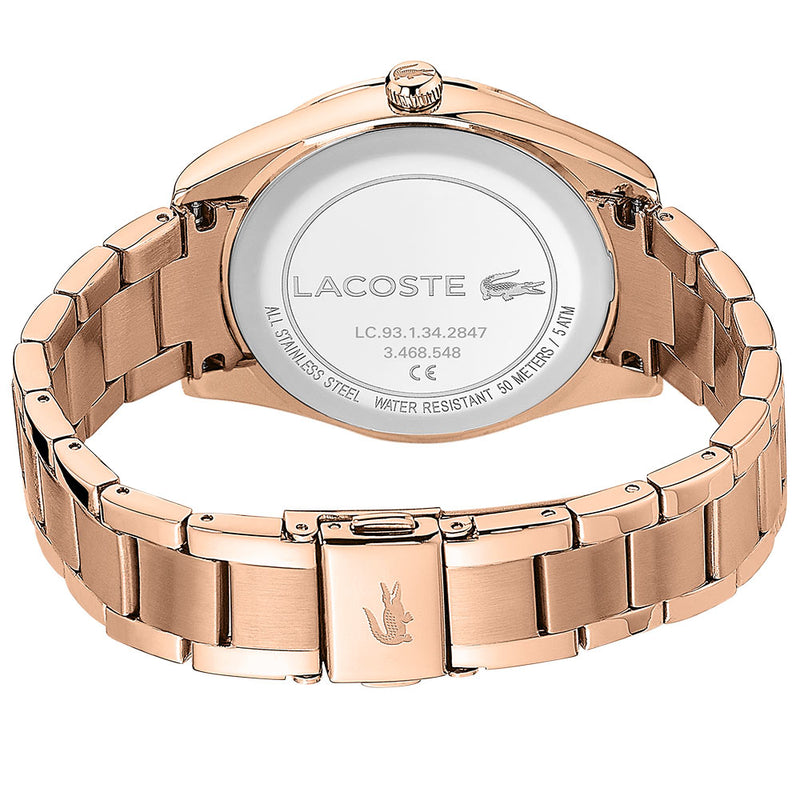 Lacoste Parisienne Carnation Gold Steel Ladies Watch - 2001084