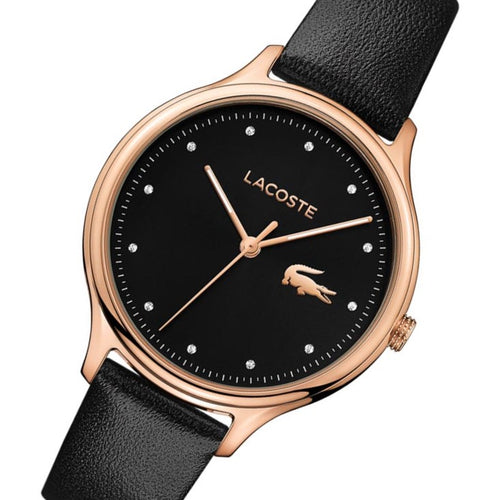 Lacoste Constance Black Leather Women's Watch - 2001086