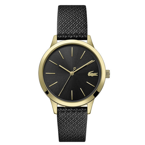 Lacoste Lacoste.12.12 Black Leather Ladies Watch - 2001090