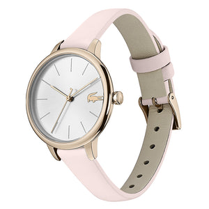 Lacoste Cannes Pink Leather Ladies Watch - 2001101