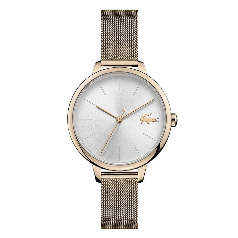Lacoste Cannes Carnation Gold Mesh Ladies Watch - 2001103