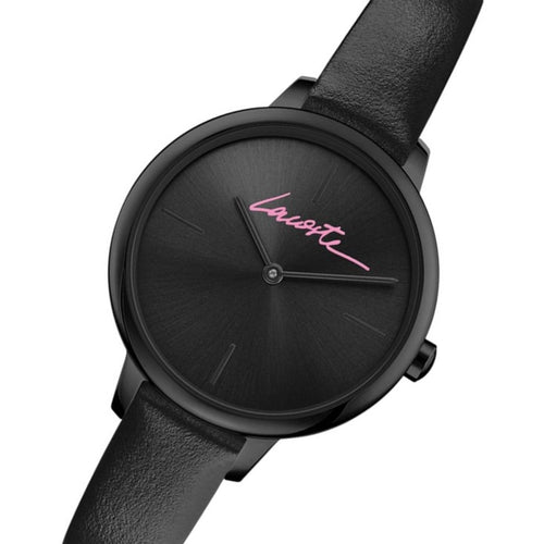 Lacoste Cannes Black Leather Women's Watch - 2001123
