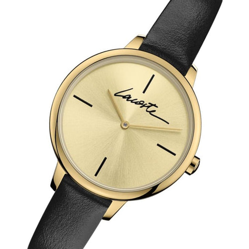 Lacoste Cannes Black Leather Women's Watch - 2001124