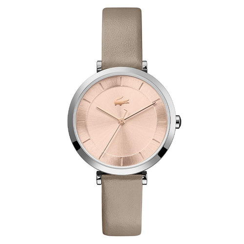 Lacoste Geneva Taupe Leather Women's Watch - 2001141