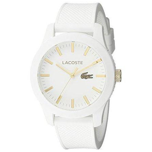 Lacoste The .12.12 Men's White Silicone Watch - 2010819