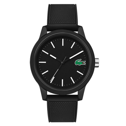 Lacoste 12.12 Black Silicone Men's Watch - 2010986