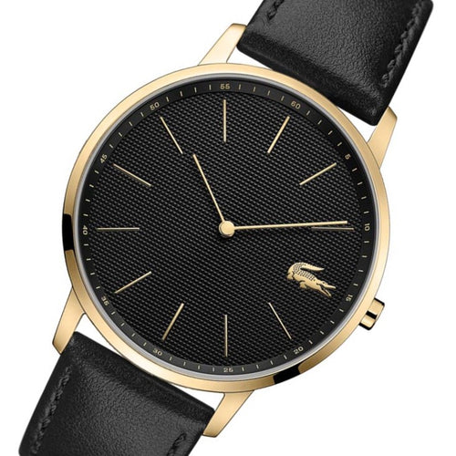 Lacoste Moon Black Leather Men's Watch - 2011004
