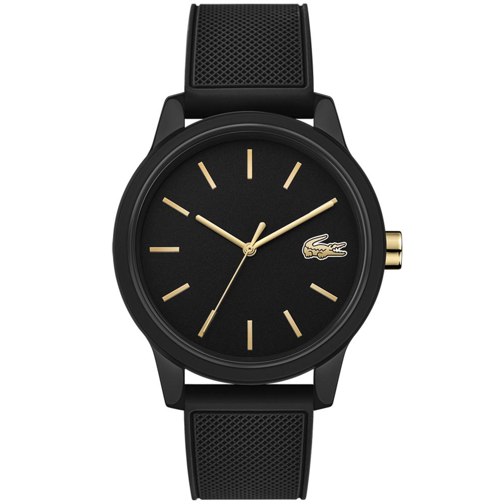 Lacoste 12.12 Black Silicone Men's  Watch - 2011010