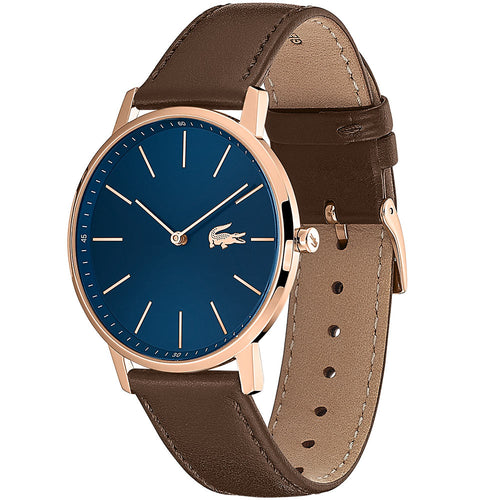 Lacoste Moon Brown Leather Men's Watch - 2011018