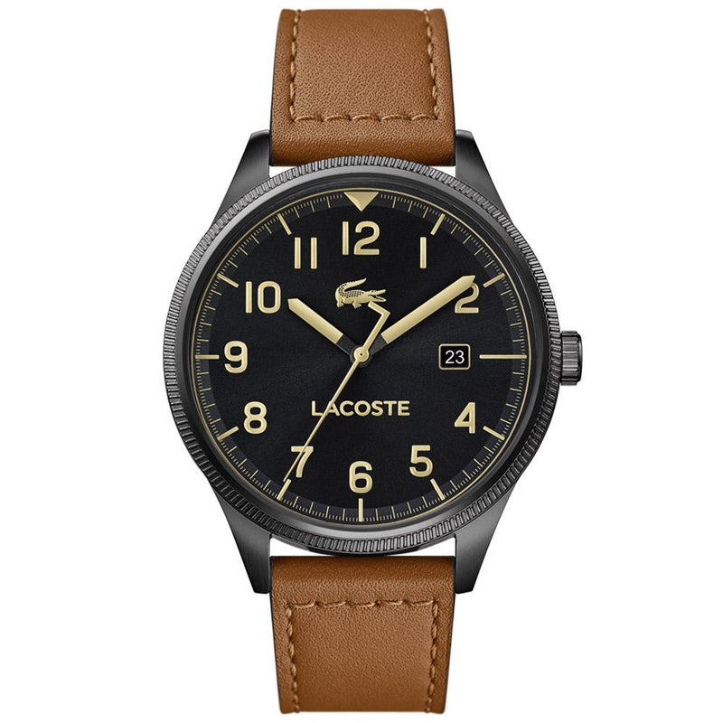 Lacoste Continental Brown Leather Men's  Watch - 2011021