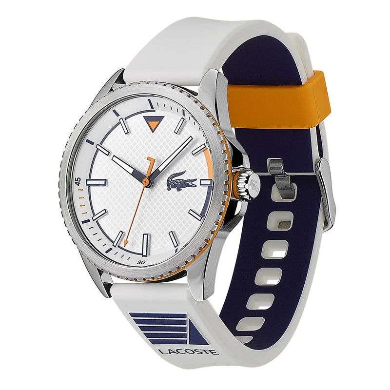 Lacoste Nautical White Silicone Men's Watch - 2011028