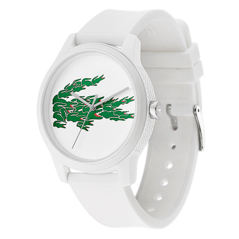 Lacoste 12.12 White Silicone Men's Watch - 2011039