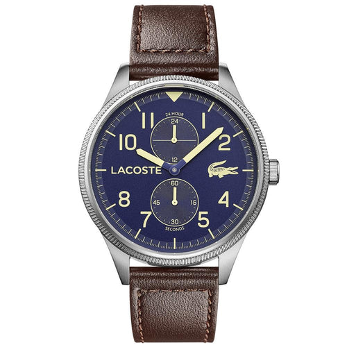 Lacoste Continental Brown Leather Men's Watch - 2011040