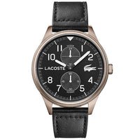Lacoste Continental Black Leather Men's Watch - 2011042