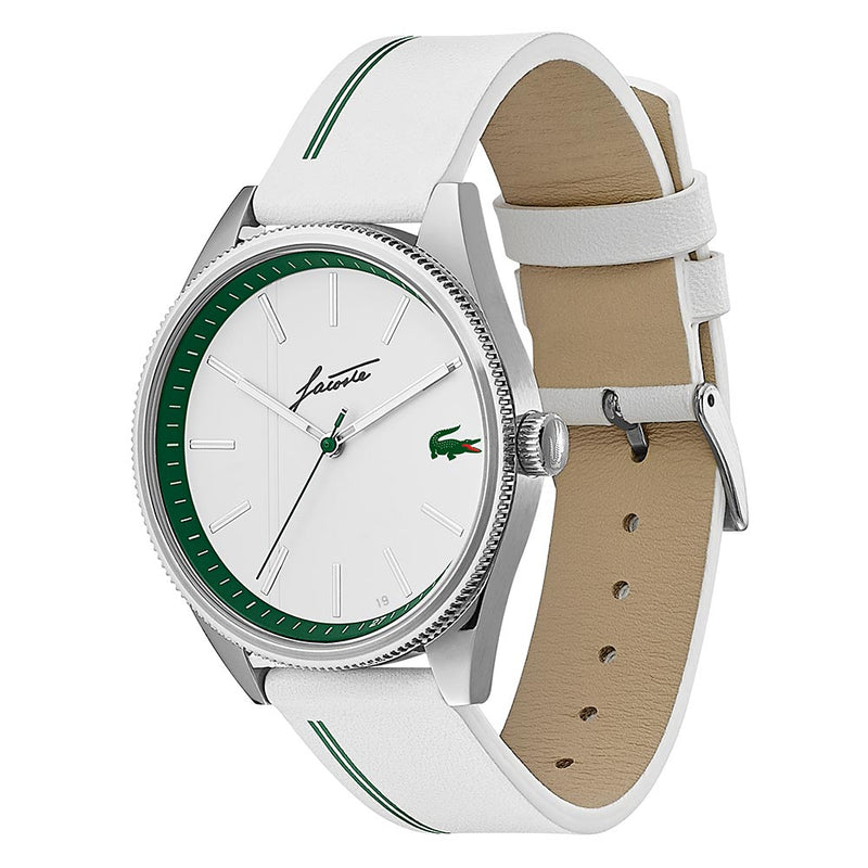 Lacoste Heritage White Leather Men's Watch - 2011050