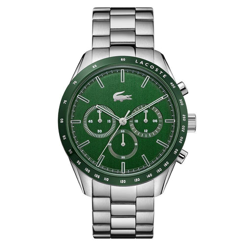 Lacoste Boston Stainless Steel Green Dial Men's Chrono Watch - 2011080
