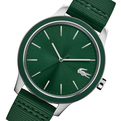 Lacoste 12.12 Green Silicone Band Men's Watch - 2011085