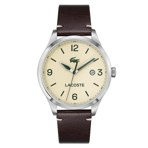 Lacoste Traveler Brown Leather Men's Watch - 2011107