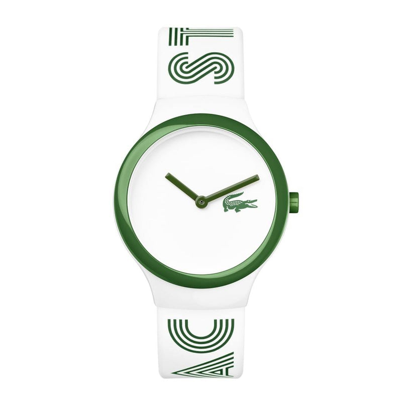 Lacoste Goa New  White & Green Silicone Unisex Watch - 2020104