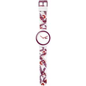Lacoste The Goa White & Red Silicone Watch - 2020127