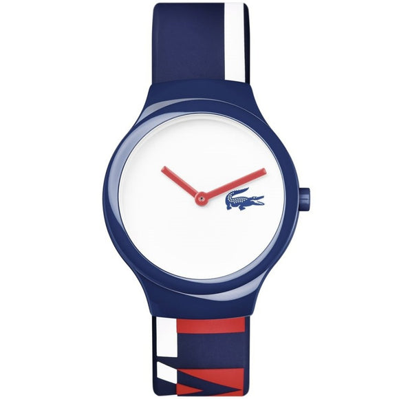 Lacoste The Goa Navy, Red & White Silicon Watch - 2020128-The Watch Factory Australia