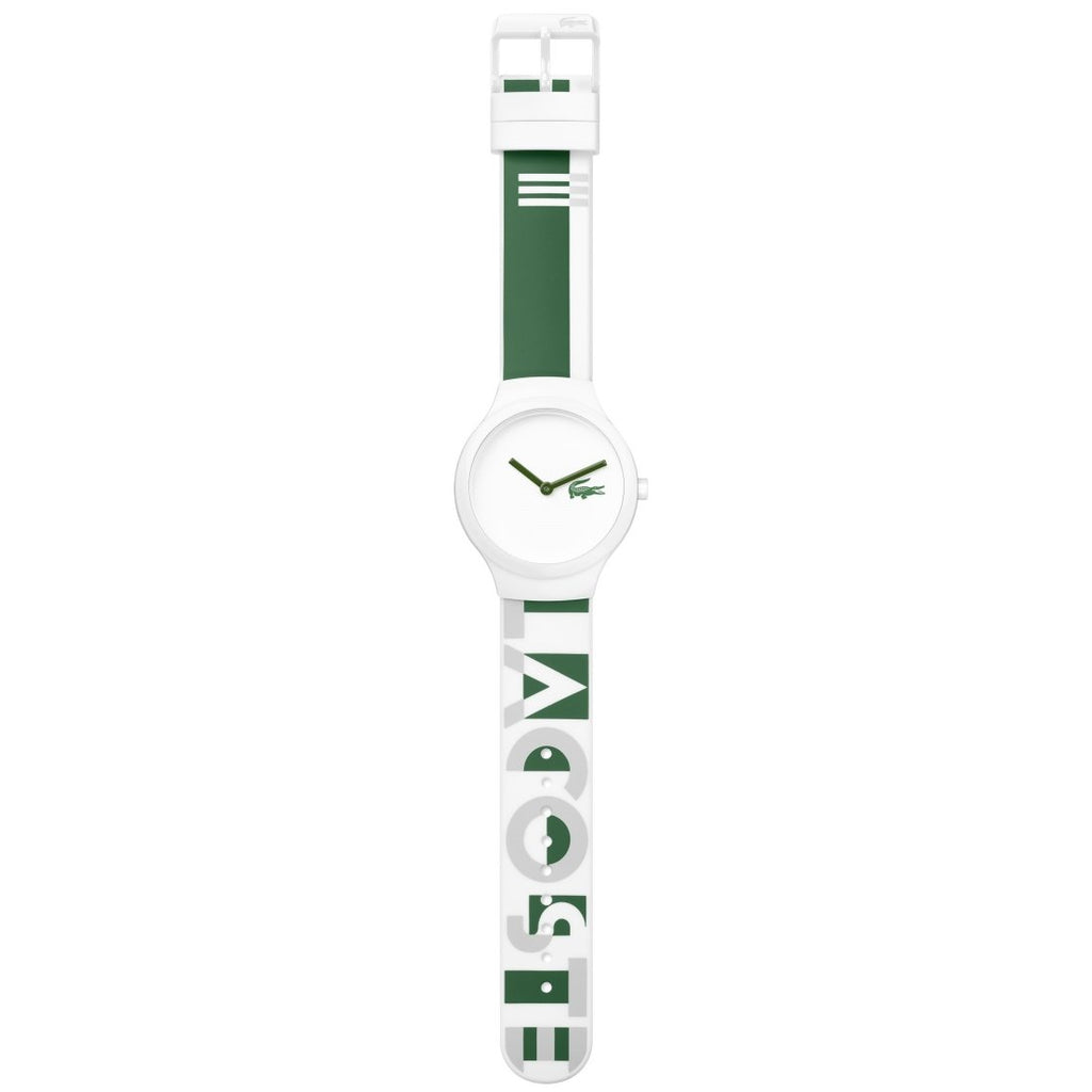 Lacoste The Goa Green & White Silicone Watch - 2020129